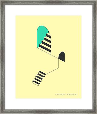 Emergency Exits 18 Framed Print by Jazzberry Blue