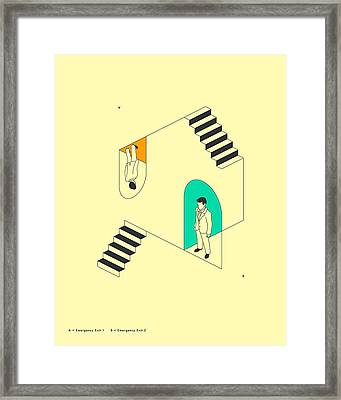 Emergency Exits 19 Framed Print by Jazzberry Blue