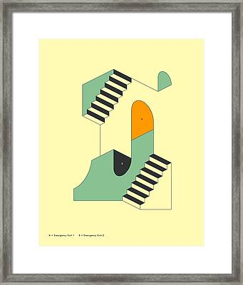 Emergency Exits 9 Framed Print