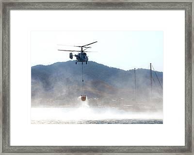 Emergency Helicopter Framed Print by Svetlana Sewell