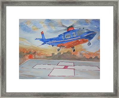 Emergency Landing Framed Print