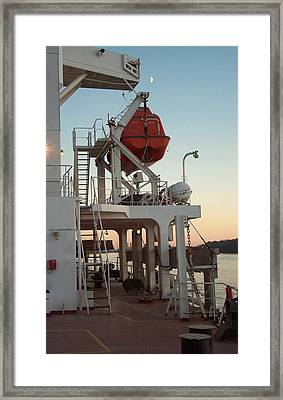 Emergency Lifeboat At The Ready Framed Print by Alan Espasandin