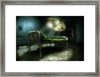 Framed Print featuring the digital art Emergency Nature  by Nathan Wright