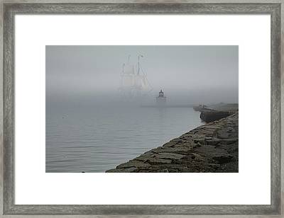 Framed Print featuring the photograph Emerging From The Fog by Jeff Folger