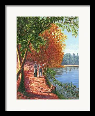 Walden Pond Framed Prints