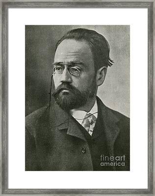 Emile Zola, French Author Framed Print