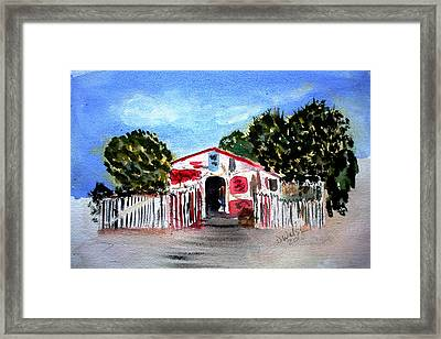 Framed Print featuring the painting Emiles Road Side Grocer by Donna Walsh