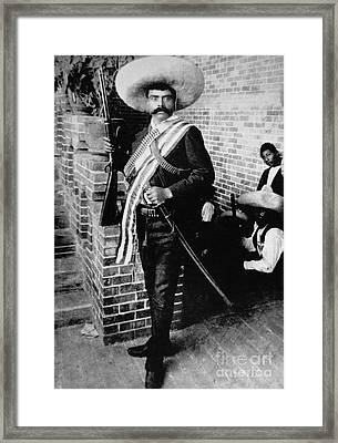 Emiliano Zapata Framed Print by American School