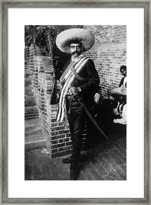 Emiliano Zapata Ca. 1879-1919, Mexican Framed Print by Everett