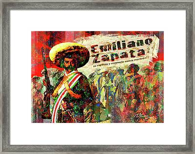 Emiliano Zapata Inmortal Framed Print by Dean Gleisberg