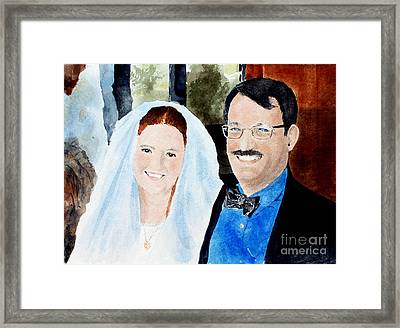 Emily And Jason Framed Print