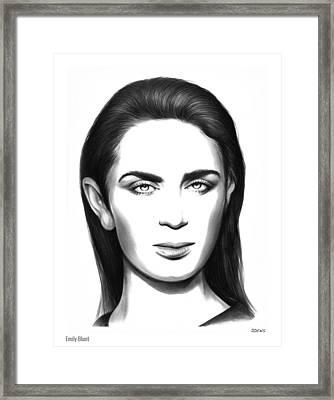 Emily Blunt Framed Print by Greg Joens