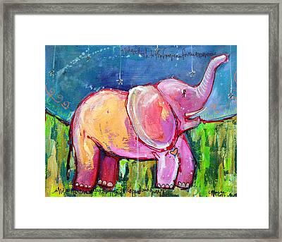 Emily's Elephant 2 Framed Print