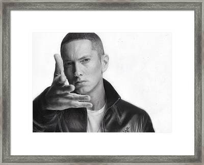 Eminem Framed Print by Nat Morley