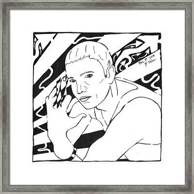 Eminemaze Framed Print by Yonatan Frimer Maze Artist