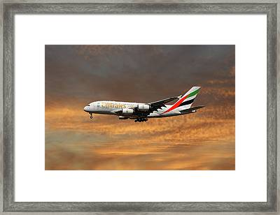 Emirates Airbus A380-861 3 Framed Print