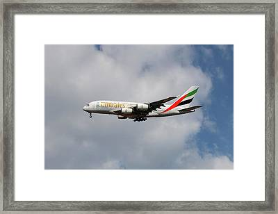 Emirates Airbus A380-861 5 Framed Print
