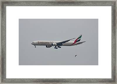 Emirates Airlines Framed Print by Brian MacLean