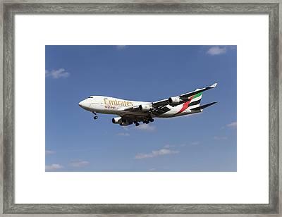Emirates Boeing 747 Sky Cargo Framed Print