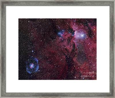 Emission Nebula Ngc 6188 Star Formation Framed Print by Robert Gendler