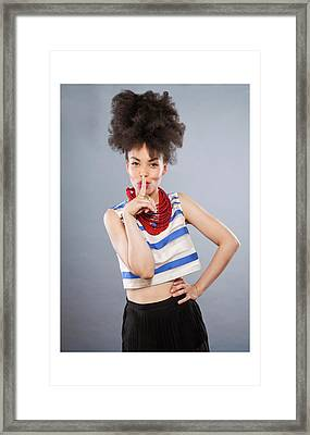 Emma Framed Print by Celebration Of African Women By Nubian Nights Out