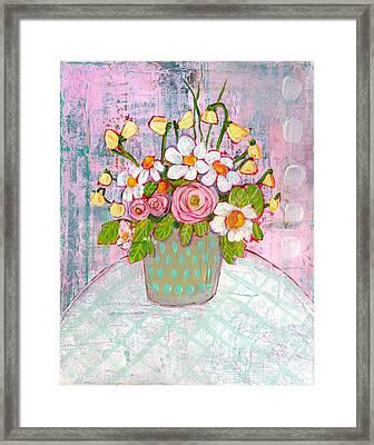 Emma Daisy Bouquet Framed Print by Blenda Studio