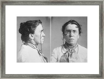 Emma Goldman 1869-1940 Mugshots. She Framed Print by Everett