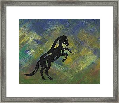 Emma II - Abstract Horse Framed Print