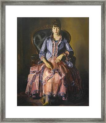 Emma In A Purple Dress Framed Print