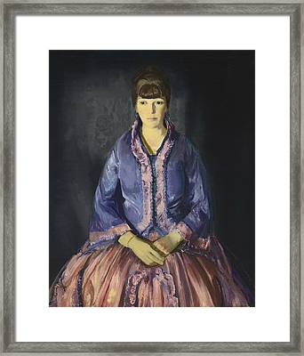 Emma In The Purple Dress Framed Print by George Bellows