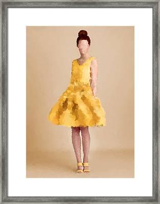 Framed Print featuring the digital art Emma by Nancy Levan