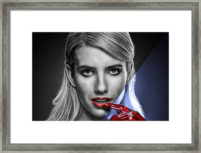 Emma Roberts Collection Framed Print