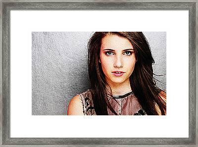 Emma Roberts Framed Print by Iguanna Espinosa