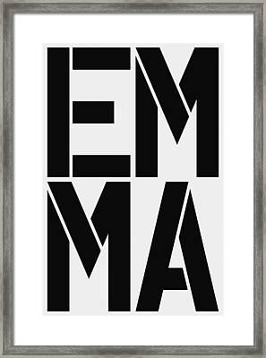 Emma Framed Print by Three Dots
