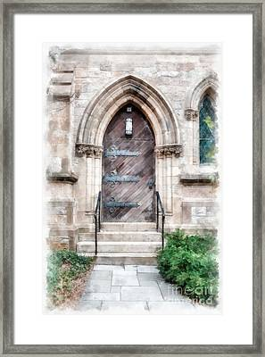 Emmanuel Church Newbury Street Boston Ma Framed Print by Edward Fielding