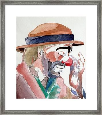 Emmett Kelly Framed Print by Donna Baruchi
