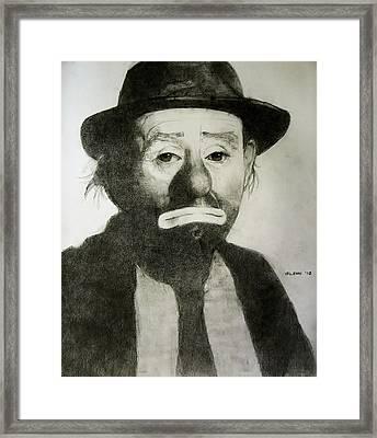 Emmett Kelly Jr Framed Print by Glenn Daniels