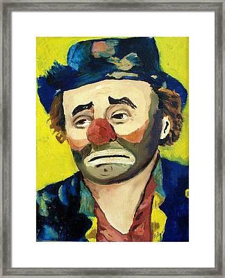Emmett Kelly Framed Print by Robin Monroe