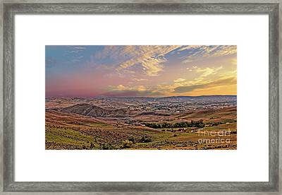 Emmett Valley From Squaw Butte Framed Print