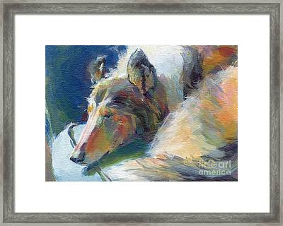 Emmies Beauty Sleep Framed Print by Kimberly Santini