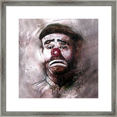 Emmit Kelly Clown Framed Print