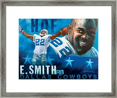 Emmit Smith Hof Framed Print by Jim Wetherington