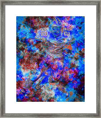 Emmitt Smith Dallas Cowboys Digital Painting 12 Framed Print by David Haskett