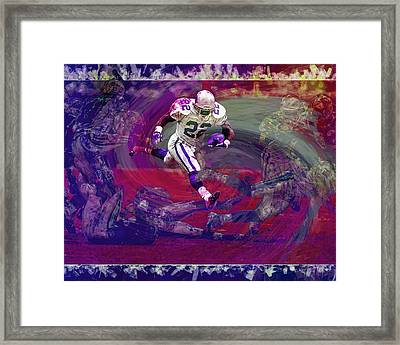 Emmitt Smith Dallas Cowboys Digital Painting Art Framed Print by David Haskett