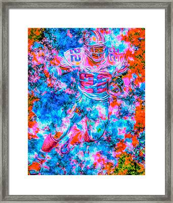 Emmitt Smith Dallas Cowboys Digital Painting Framed Print by David Haskett