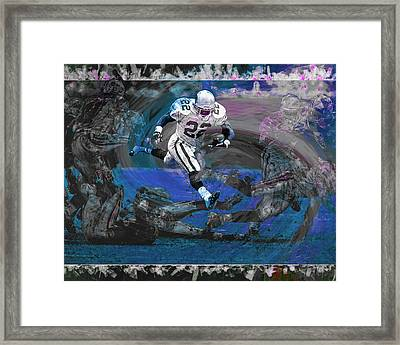 Emmitt Smith Dallas Cowboys Digitally Painted Art Framed Print by David Haskett