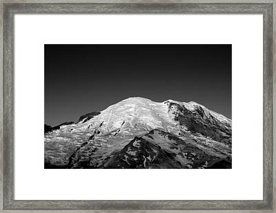 Emmons And Winthrope Glaciers On Mount Rainier Framed Print by Brendan Reals