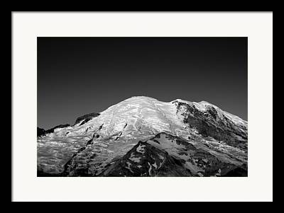 Snow Capped Framed Prints