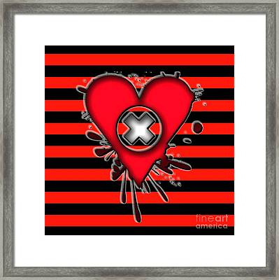 Emo Love Framed Print