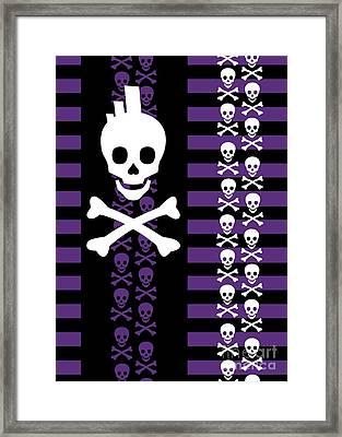 Emo Punk Skull Framed Print by Roseanne Jones